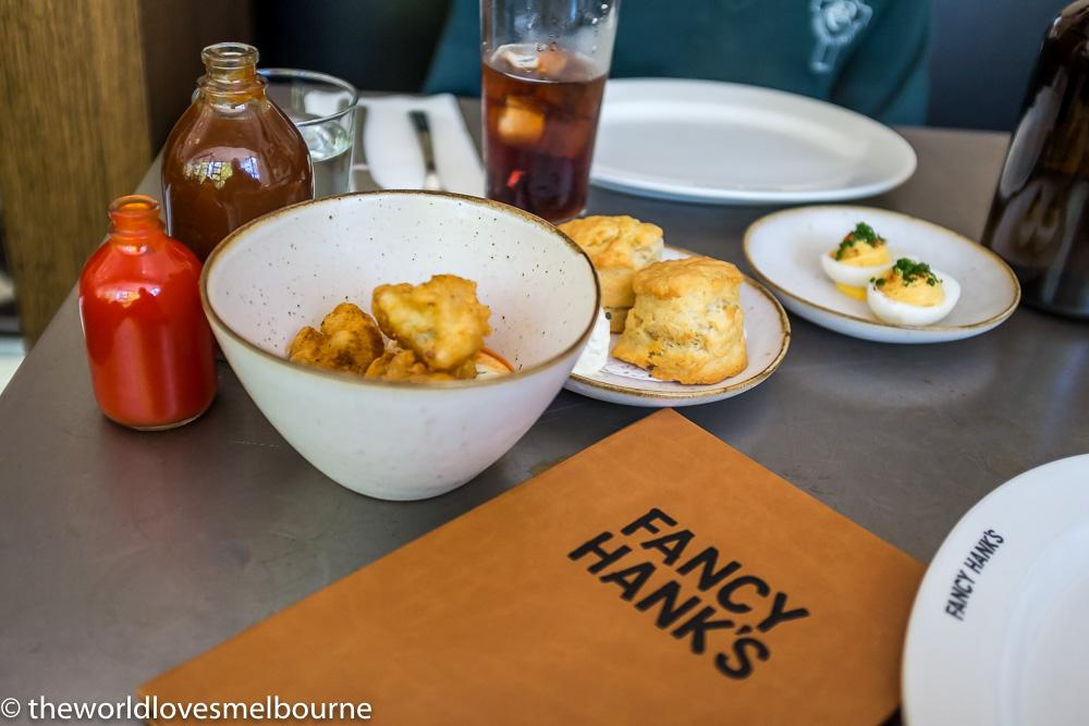 Hanks shines with it's Fried Cauliflower, Ranch Dressing, Hot Sauce ...